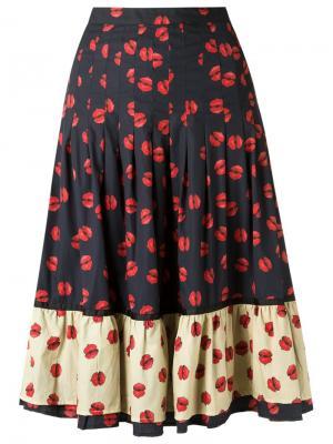 Расклешенная юбка Isabela Capeto. Цвет: синий