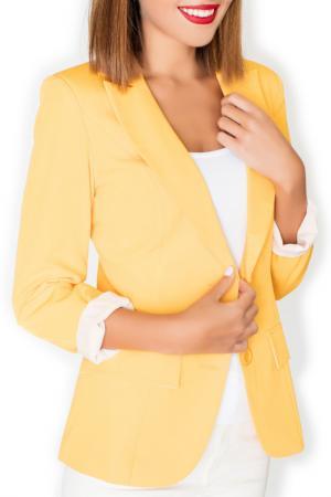 Жакет KATRUS. Цвет: yellow