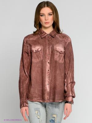 Блузка Not The Same. Цвет: коричневый