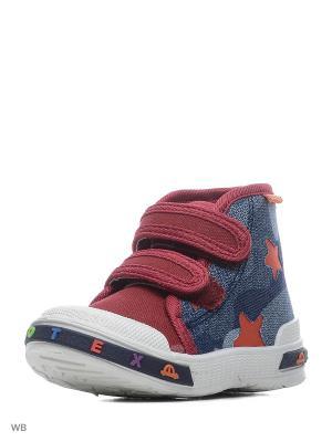 Кеды-ботинки EcoTex Zebra. Цвет: синий