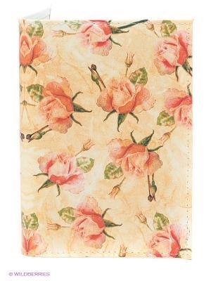 Обложка для паспорта Чайные розы Mitya Veselkov. Цвет: кремовый