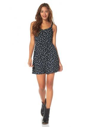 Платье AJC. Цвет: индиго/темно-синий/коралловый