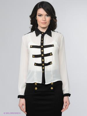 Блузка Enna Levoni. Цвет: белый, черный