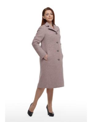 Демисезонное пальто Юкка OTTIMO. Цвет: сиреневый