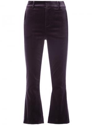 Укороченные расклешенные брюки Frame Denim. Цвет: чёрный