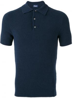 Рубашка-поло Drumohr. Цвет: синий