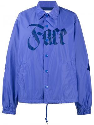 Куртка с принтом Face Facetasm. Цвет: синий