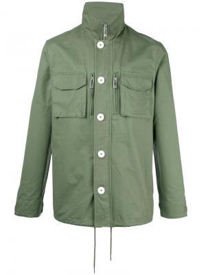 Куртка рубашечного типа Han Kjøbenhavn. Цвет: зелёный