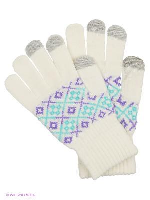 Перчатки для сенсорных экранов TERRITORY. Цвет: белый