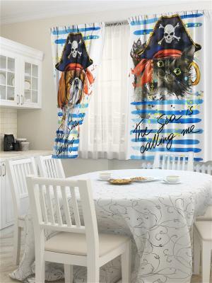 Комплект фотоштор для кухни Бандиты ZLATA KORUNKA. Цвет: кремовый