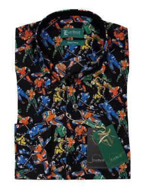 Рубашка LauRenZ. Цвет: черный, оранжевый