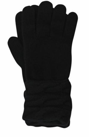 Вязаные перчатки из кашемира Kashja` Cashmere. Цвет: черный