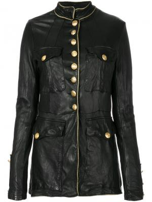 Куртка в стиле милитари Giorgio Brato. Цвет: чёрный