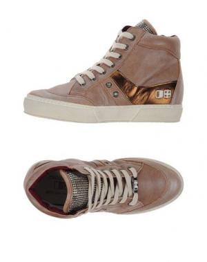 Высокие кеды и кроссовки D'ACQUASPARTA. Цвет: пастельно-розовый