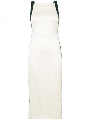 Коктейльное платье без рукавов Jason Wu. Цвет: телесный