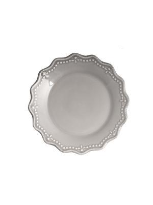 Набор тарелок десертных CROWNE H&H. Цвет: серый