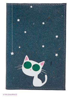 Обложка для паспорта Mitya Veselkov. Цвет: морскаяволна
