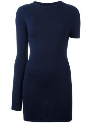 Платье с асимметричными рукавами Jacquemus. Цвет: синий
