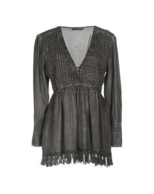 Блузка SETE DI JAIPUR. Цвет: свинцово-серый