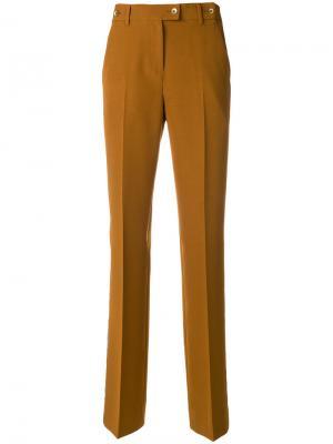 Прямые брюки с полоской по бокам Pt01. Цвет: коричневый
