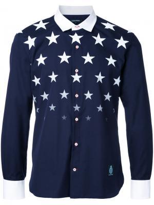 Рубашка с принтом звезд Guild Prime. Цвет: синий