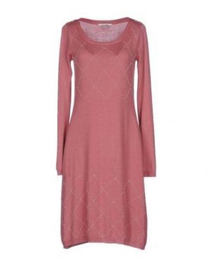 Платье до колена FAIRLY. Цвет: пастельно-розовый