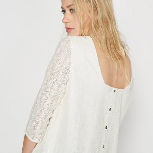 Блузка для периода беременности кружевная R essentiel. Цвет: черный,экрю