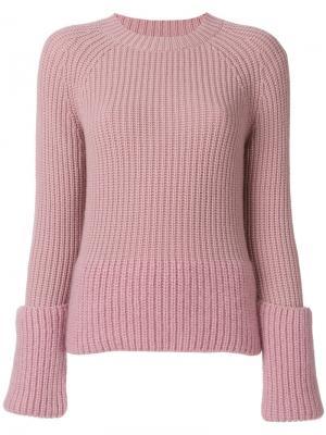 Свитер с ярусными рукавами Moncler. Цвет: розовый и фиолетовый