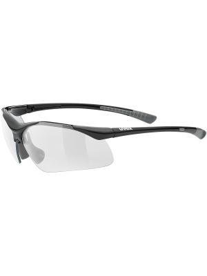 Солнцезащитные очки Uvex. Цвет: черный, серый