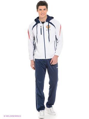 Спортивный костюм ADDIC. Цвет: белый, синий