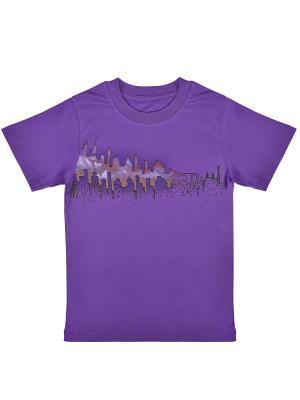 Футболка WOW. Цвет: фиолетовый