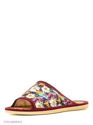 Тапочки ШК обувь. Цвет: красный