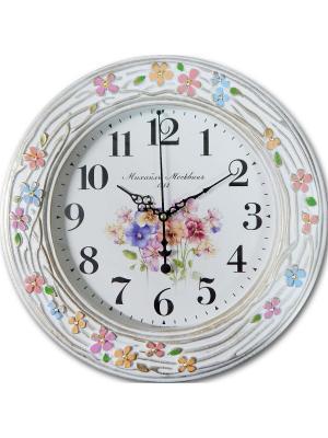 Часы настенные Михаилъ Москвинъ. Цвет: золотистый, белый