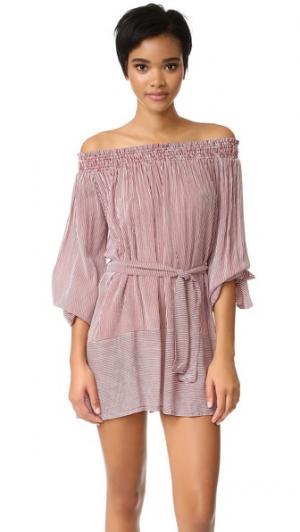 Платье Mali FAITHFULL THE BRAND. Цвет: янтарный принт в полоску