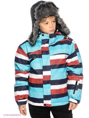 Куртка Sabotage. Цвет: темно-синий, бирюзовый, красный, белый
