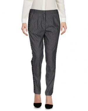Повседневные брюки NIOI. Цвет: стальной серый