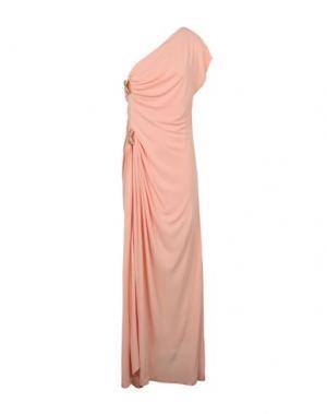Длинное платье GENNY. Цвет: лососево-розовый