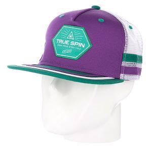 Бейсболка с сеткой True Spin Sport Trucker Purple/White TrueSpin. Цвет: зеленый,фиолетовый