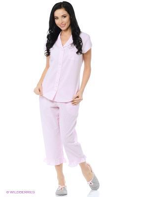 Пижама Eileen West. Цвет: розовый