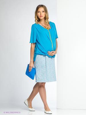 Платье Gemko plus size. Цвет: голубой