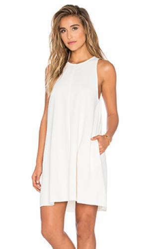 Текстурированное трапециевидное платье Bishop + Young. Цвет: ivory
