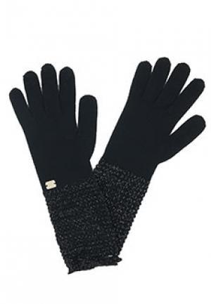 Перчатки LUISA SPAGNOLI. Цвет: черный