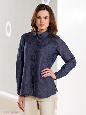 Рубашка Madeleine. Цвет: темно-синий