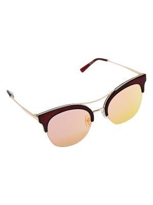 Солнцезащитные очки Kameo-bis. Цвет: красный, золотистый, коричневый