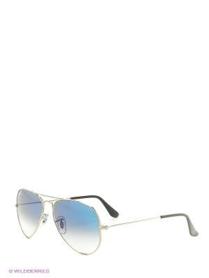 Очки солнцезащитные Ray Ban. Цвет: серебристый