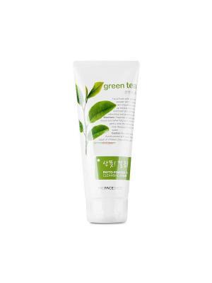 Пенка для умывания с экстрактом зеленого чая PHYTO POWDER, 170мл The Face Shop. Цвет: белый