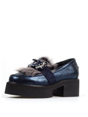 Туфли TUFFONI. Цвет: темно-синий