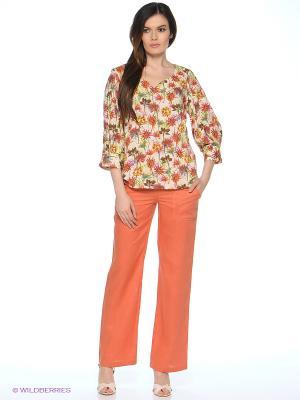 Блуза MARY MEA. Цвет: кремовый, терракотовый
