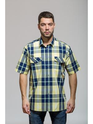 Рубашка John Jeniford. Цвет: желтый, синий