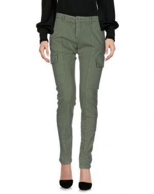 Повседневные брюки 40WEFT. Цвет: зеленый-милитари